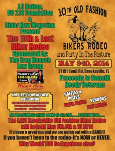 "eWareness and the Veteran Owned Business Project will be exhibiting May 8th, 9th and 10th at the Brooksville Biker Rodeo (""Party in the Pasture"")."