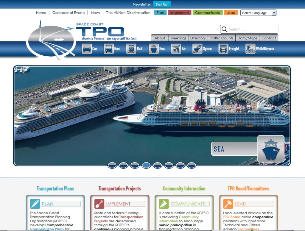 Space Coast TPO Website